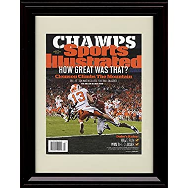 Framed Hunter Renfrow Sports Illustrated Autograph Replica Print - Clemson Tigers National Champs!