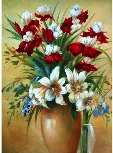 Erwachsene Holzpuzzle 1500 Teile Puzzle Ölgemälde Vase Blume Home Dekoration Gemälde Orchidee-87x58cm