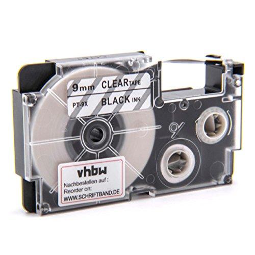 vhbw Kassette Patronen Schriftband 9mm für Casio KL-60, KL-120, KL-70E, KL-100E, KL-300, KL-750E, KL-780, KL-1500, KL-7000 wie XR-9X, XR-9X1.