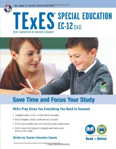 Compare Textbook Prices for TExES Special Education EC-12 161 Book + Online TExES Teacher Certification Test Prep Pap/Psc Edition ISBN 9780738611419 by Haney M.A., Jill L.,Wescott, James,Jaquess, Jamalyn