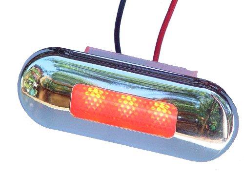 Aqua Signal Lampe d'accentuation 3 LED avec Couvercle en Acier Inoxydable, 16423-7, Red