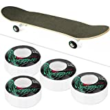 Vbest life Ruedas de Skateboard de 4 Piezas, Ruedas de Longboard de Alta Resistencia de la PU con patrón