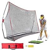 Keenstone 10x7ft Portable Golf Net Golf Practice Net for Indoor and Outdoor...