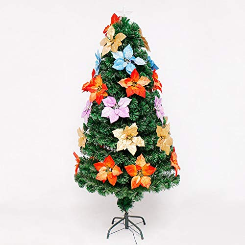 SMQHH Christmas Tree Artificial Christmas Tree Tall Artificial Tree Multicolor Fiber Optic LED,Colorful Flower Fiber Optic Tree Christmas LED Light Tree (Size : 90cm(3FT))