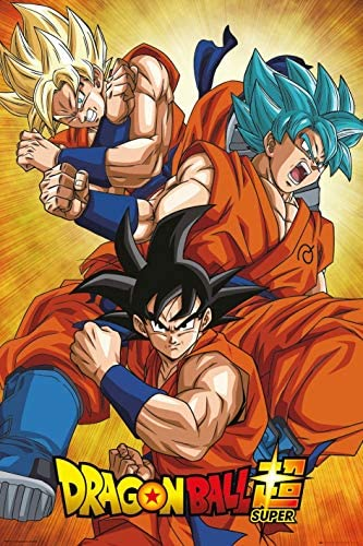 Dragon Ball Super TV Show Manga Anime Poster Super Goku Collage Size 24 x 36 inches product image