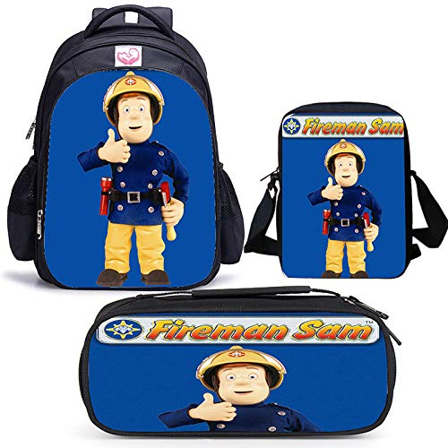 High-Capacity Custom Printed School Bag Combination for Primary and Middle School Students Backpack 3 Pieces Backpack Satchel Pen bag-04 Pairs_Three-Piece Suit
