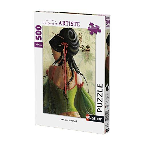 Nathan 87198 - Puzzle (500 Piezas), diseño Lola de Misstigri