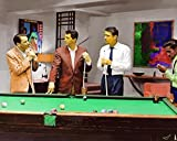 Rat Pack Pool A 16 x 20 Oil Painting Poster Playing Pool Frank Sinatra Dean Martin Sammy Davis Jr, Peter Lawford Unframed Signed & Numbered Limited Ed Martin Sammy Davis Jr, Peter Lawford Unframed