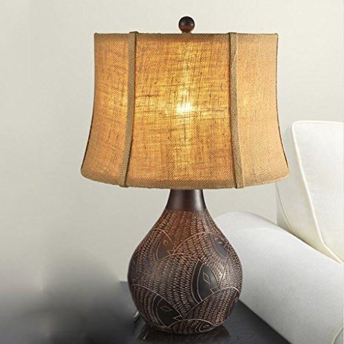 Bonne chose lampe de table Lampe de style américain Style européen Retro Classique Chambre à coucher de luxe Cabinet de cuisine Lampe de table en bois massif (taille : Grand)