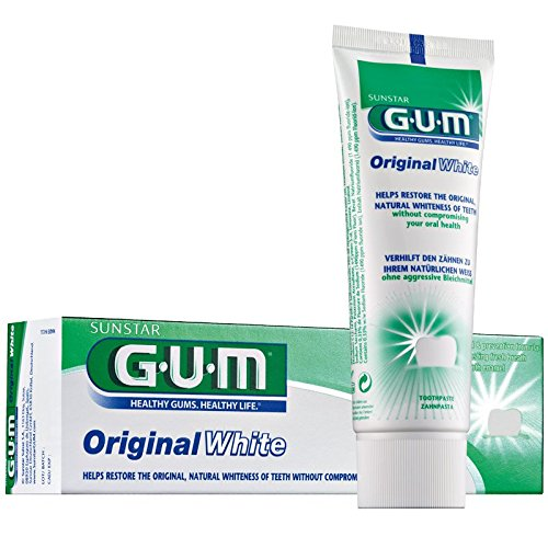 GUM Original White Zahncreme 75ml, 6er Vorteilspack (6x 75ml)