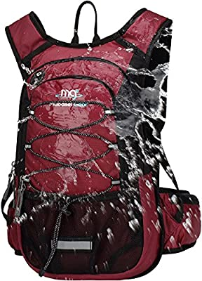 Mubasel Gear Insulated Hydration Backpack Pack with 2L BPA Free Bladder - Keeps Liquid Cool up to 4 Hours – for Running, Hiking, Cycling, Camping (Wine)