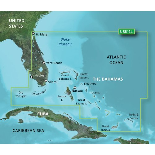 %7 OFF! New-GARMIN VUS513L JACKSONVILLE TO BAHAMAS BLUECHART G2 VISION - 30408