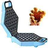 Bubble Waffle Maker, Electric Non Stick Egg Waffler Iron Griddle Ready Under 5