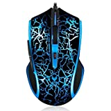 Auawak Rapoo V20 Ergonomic Programmable Pro Gaming Mouse With 16 Million-Colors Smart Breathing Light Built-in 60IPS 12MHz ARM Core for PC Laptops and Desktops - Flame Black