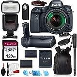 Canon EOS 6D Mark II Full Frame Digital SLR Camera Bundle with EF 24-105mm STM Lens + Prime Accessory Bundle (20 Items)