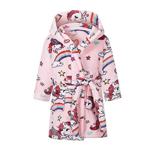 Coralup Albornoz para niños y niñas, de forro polar, cómodo, de franela, suave, con capucha, colorido de 2 a 11 años