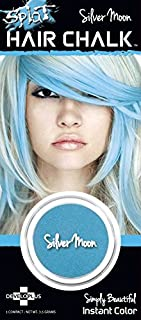 Splat Hair Chalk Instant Vibrant Color Silver Moon