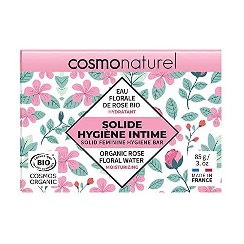 Cosmo naturel Solide Hygiène Intime Eau florale rose 85g