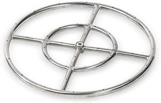 American Fireglass Stainless Steel Fire Pit Burner Ring, 18-Inch