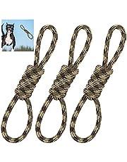 Relaxdays Juego de 3 Cuerdas de Juguete para Perros, para Masticar, para el Cuidado Dental, Resistente, Tirar y Tirar, Cuerda para Perros, 40 cm, Color marrón