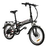 ANCHEER 20' Bicicletta Elettrica Pieghevoli, Bici Elettriche da 20 pollici Pedelec con Batteria al...