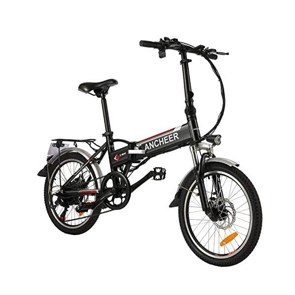51cMPQKOUoL. SS600  - ANCHEER E-Bike Elektrofahrrad, 20 Zoll Pedelec Elektrisches Fahrrad mit Lithium-Akku (36 V 8Ah) & 250 W Motor & Shimano 7-Gang-Schalthebel