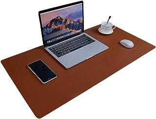 "Aisakoc Large Desk Pad, 35.4"" x 15.75"" Non-Slip PU Leather Desk Mouse Pad Waterproof Desk Pad Protector, Dual-Side Use Des..."
