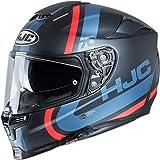 HJC NC Casco per Moto, Hombre, Negro/Azul, S