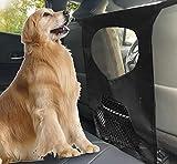 Lifepul Hunde Rücksitz Barriere Pet Sicherheit Netz Barrier, Auto-Haustier Sicherheitsnetz Fahrzeug Hunde Gepäcknetz Rücksitz Hund Schutznetz für sicher und angenehm Reise Auto Netz 43CM x 72 CM
