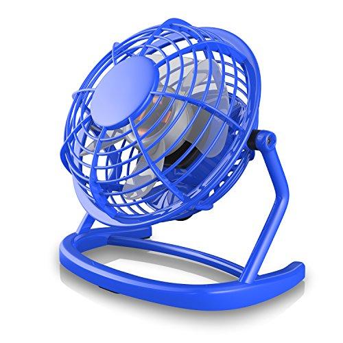CSL - USB Ventilator - Tischventilator Fan Lüfter - optimal für den Schreibtisch inkl. An Aus-Schalter - kompatibel mit PC MAC Notebook - in blau