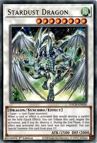 Stardust Dragon - TOCH-EN050 - Rare - 1st Edition