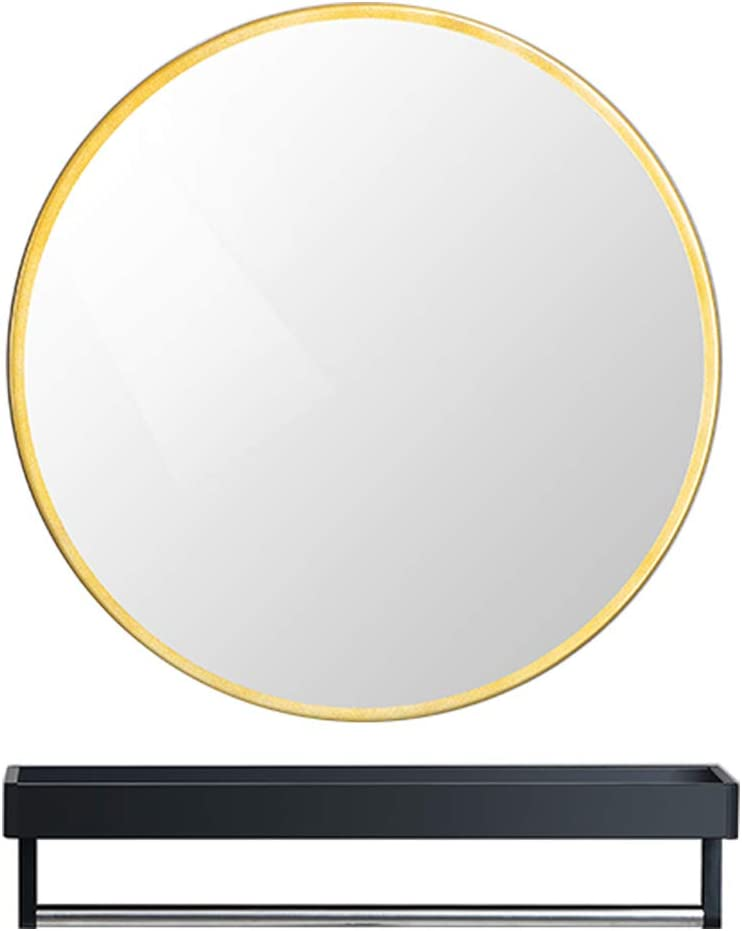 Round Bathroom OFFicial shop Limited time for free shipping Wall Mirrors with Shaving Rack Ma Storage