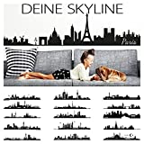 Wandora Wandtattoo Skyline Leipzig I schwarz (BxH) 100 x 25