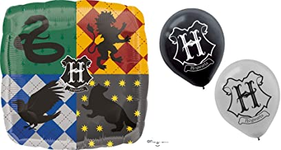 Harry Potter Hogwarts Balloons: Bundle of One Foil and 6 Latex