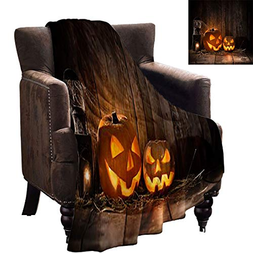 LanQiao Dog Blanket - Halloween Spooky Pumpkins on Wooden Table - Household Blankets are Soft 80'x60'
