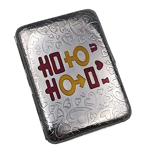 AoFeiKeDM Caja de cigarrillos de metal retro 16 paquetes de cobre puro Buddha You Safe Safe Safe Safe a prueba de humedad y resistente a la presión para hombre y mujer