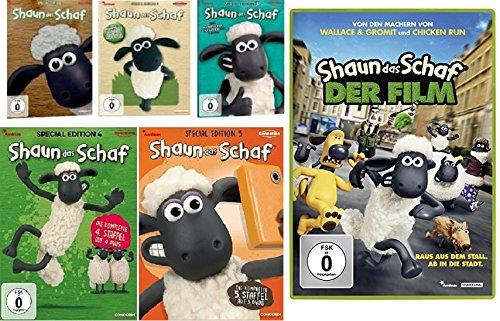 Shaun das Schaf - Special Edition Box - 1+2+3+4+5 & Kinofilm im Set - Deutsche Originalware [21 DVDs]