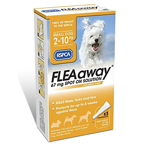 RSPCA FleaAway Solution pour petits chiens 67 mg