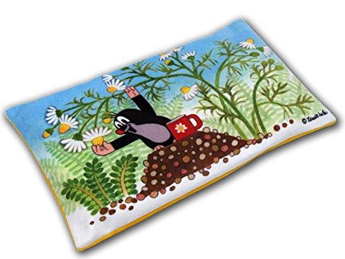 Zdenek Miler Almohada de calor para microondas con dibujos animados de 25 x 15 cm, diseño original con licencia The Little Mole Krtek Krtecek, para decoración del hogar de la habitación de los niños