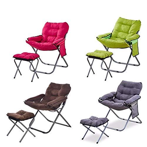 HYAN Sillas de Escritorio Lazy Oficina sofá reclinable Balcón Descanso for Comer Sola Creatividad Volver Tela Plegable Silla de la computadora Principal Gaming Silla (Color : Gray)