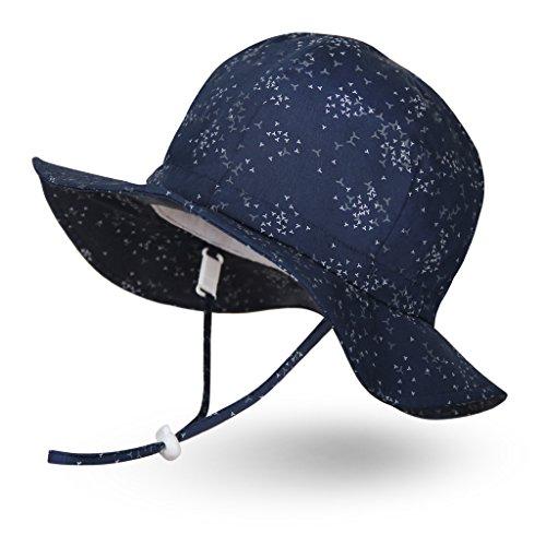 Ami&Li tots uniseks dziecko regulowany szeroki daszek ochrona przeciwsłoneczna kapelusz UPF 50 kapelusz przeciwsłoneczny dla dziewczynki chłopca niemowlęcia dzieci malucha