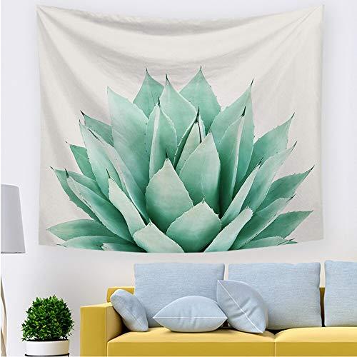 Bdhbeq Sommer Wohnzimmer Schlafzimmer Tapisserie grüne Tapisserie Tropische Pflanze Blatt Druck Wandbehang Tapisserie Stoff Trompete