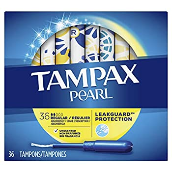 Tampax Pearl Tampons with Plastic Applicator Regular Absorbency Unscented 36 Count