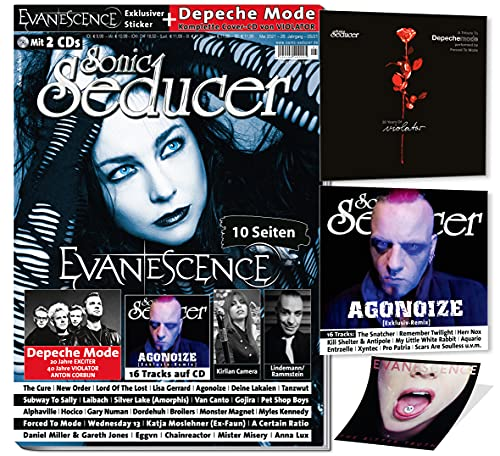 Sonic Seducer 05-2021: + 2 CDs: Depeche Mode mit exkl. 'Violator'-Cover CD + Evanescence mit exkl. Sticker + Lindemann, New Order, The Cure, Kirlian Camera, Agonoize, Rammstein