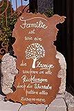 Rostalgie Edelrost Tafel Risse mit Spruch Familie ist wie EIN Baum 52 x 32 cm Schild