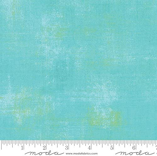 Grunge Basics OCEAN 30150-228 BasicGrey Fabric By the Yard Cotton Fabric Background Turquoise Blender Moda Fabrics Quilt Fabric