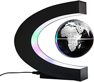 ZRL77y Magnetic Levitation Floating World Map Globe with Rotating Planet Earth Anti Gravity LED Light Lamp Home Office Des...
