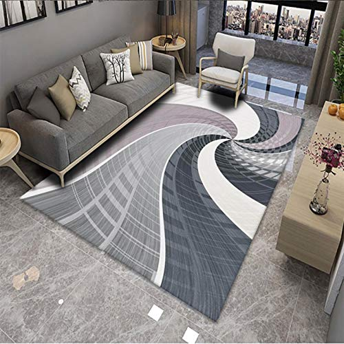 YZHY Alfombra Moderna para Sala de Estar - Alfombra de Alfombra Estampada Lavable,alfombras utilizadas en Dormitorio,Sala de Estar,habitación de niños,Alfombra de Piso para decoración del hogar