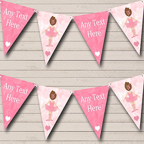 Marble Pink Ballet Ballerina Personalised Baby Shower Bunting Party Banner Decoration Garland