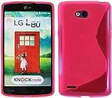 S Line TPU–Carcasa para LG L80(D373) funda de silicona en rosa @ Energmix
